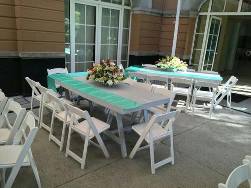 sillas mesas fiestas