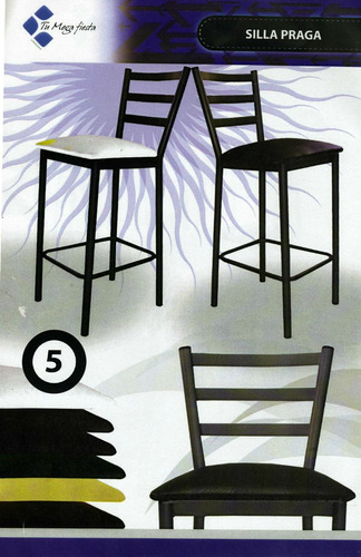 sillas  metálicas para comedor y cafetin