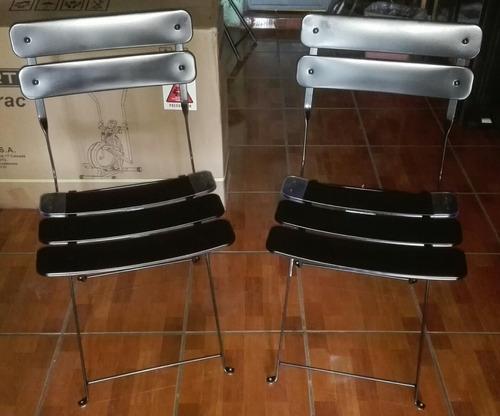 sillas metalicas plegables