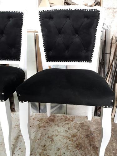 sillas modelo luis xv estilo francés. con capitone en su respaldo. son nuevas. somos fabricantes directos. en guindo.