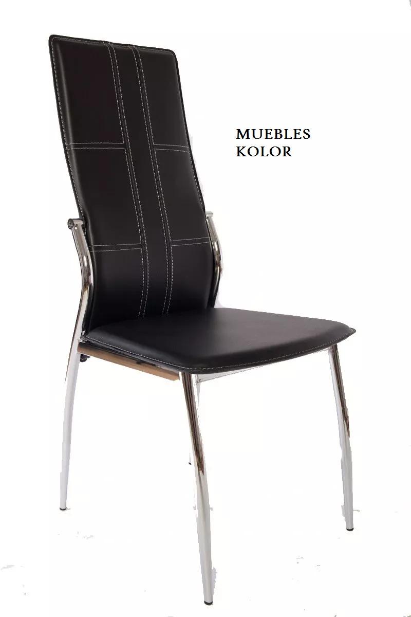 Sillas Moderna N 3 Sillas Ca Os Cromada Muebles Kolor 1 995  # Muebles Nemesis