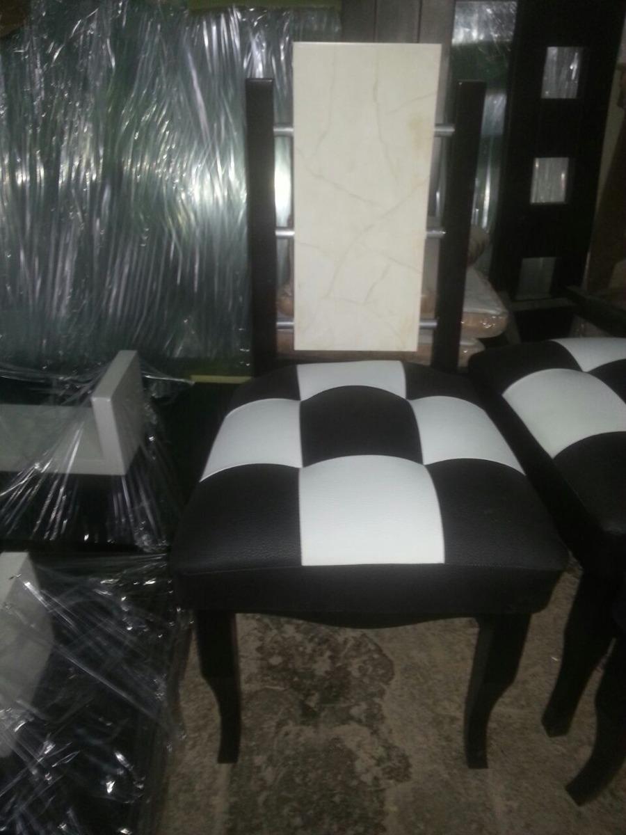 Sillas modernas comedor tapizadas madera bs for Sillas comedor tapizadas modernas