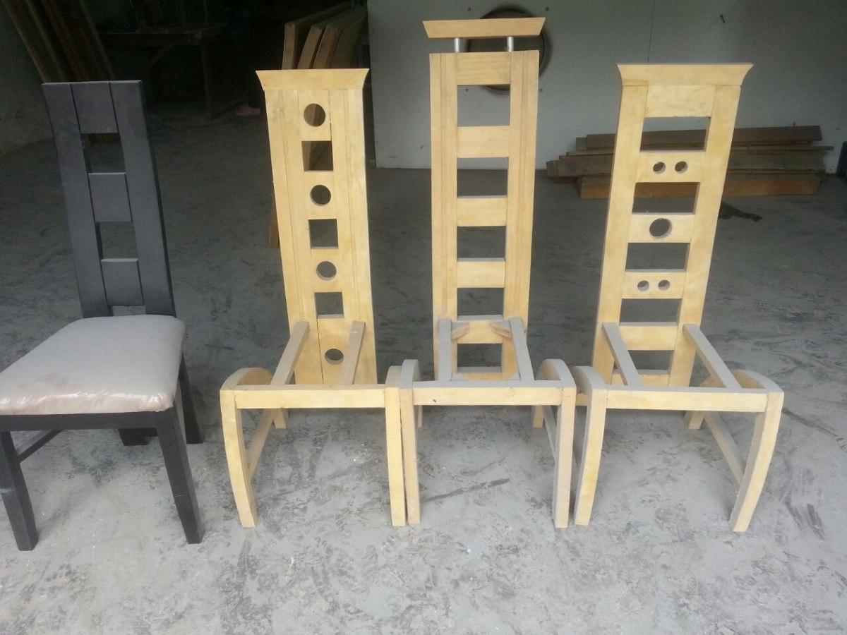 Sillas modernas comedor tapizadas madera bs 85 for Precio sillas comedor
