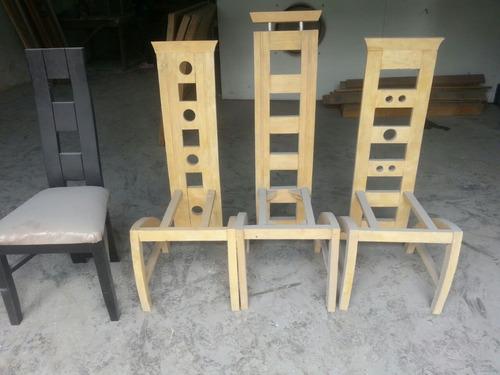 Sillas modernas comedor tapizadas madera bs for Sillas para comedor modernas