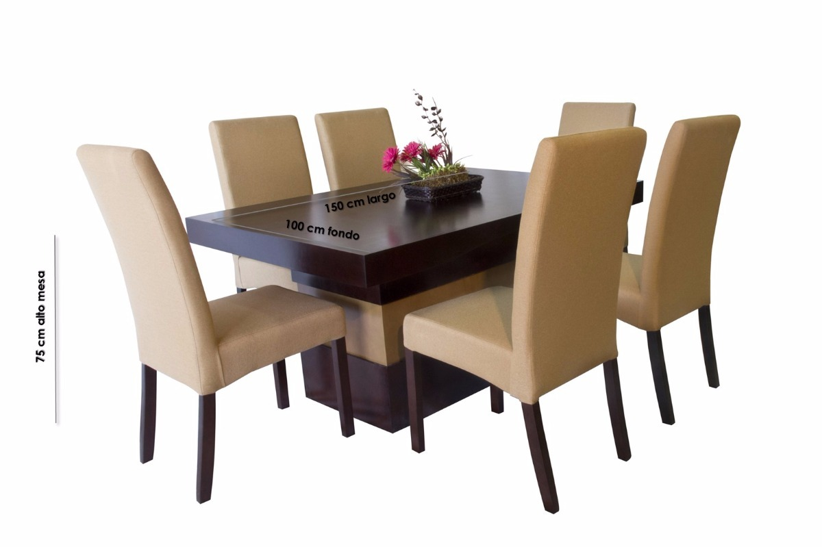Comedor seis sillas tapizadas oslo muebles el angel for Sillas comedor jardin