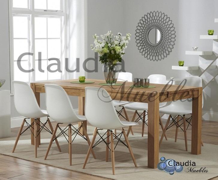Moderno Comedor Nordicas Living Madera Diseño Patas Sillas YEH2I9WD