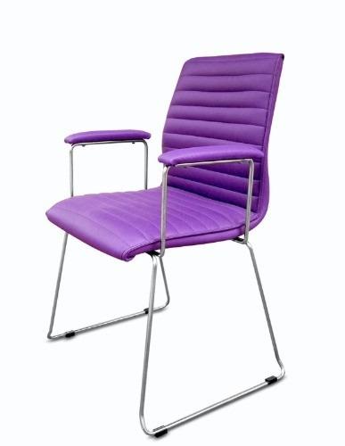 sillas oficina hogar sillones cromada sin apoya brazos.