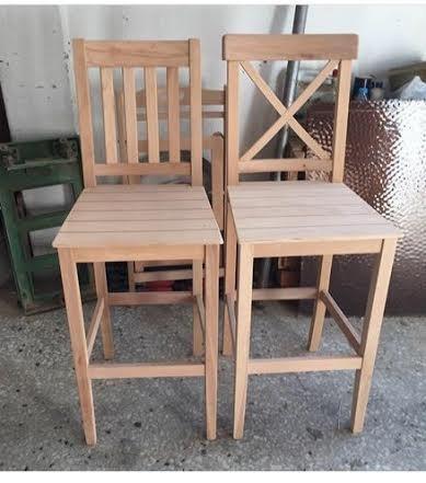 Sillas para bar en madera sin pintar bs en mercado libre - Pintar sillas de madera ...