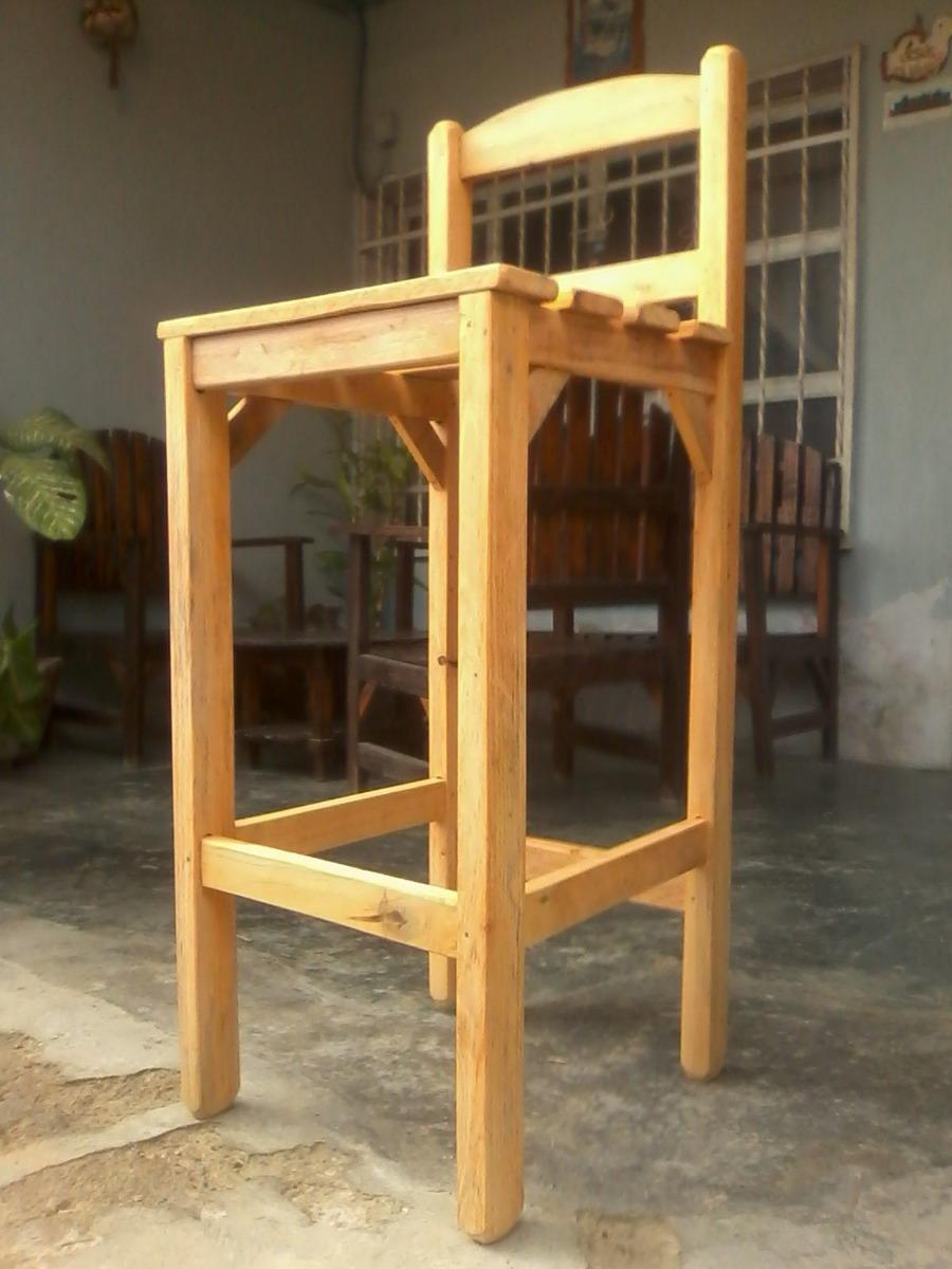Sillas para barra en madera excelente calidad bs en mercado libre - Sillas de barra de bar ...