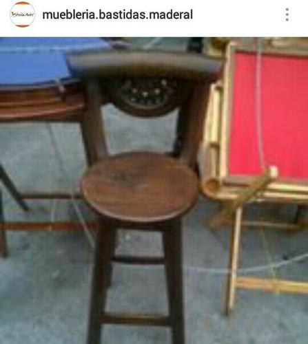 sillas para barra madera