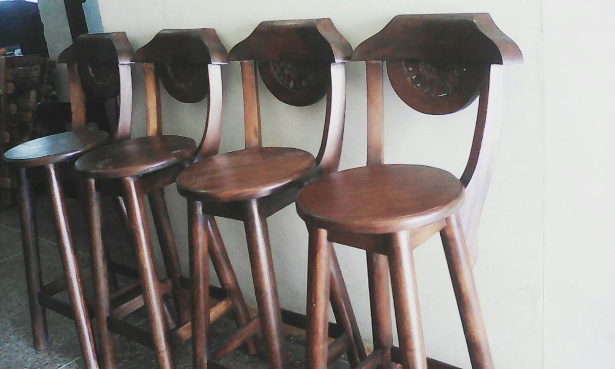 Sillas para barra madera teca excelente calidad bs 39 for Precio de sillas para barra