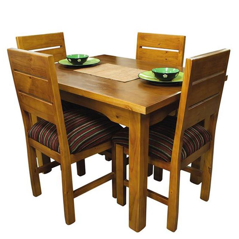 Sillas para cocina comedor mesa living madera maciza gh for Mesa comedor madera maciza