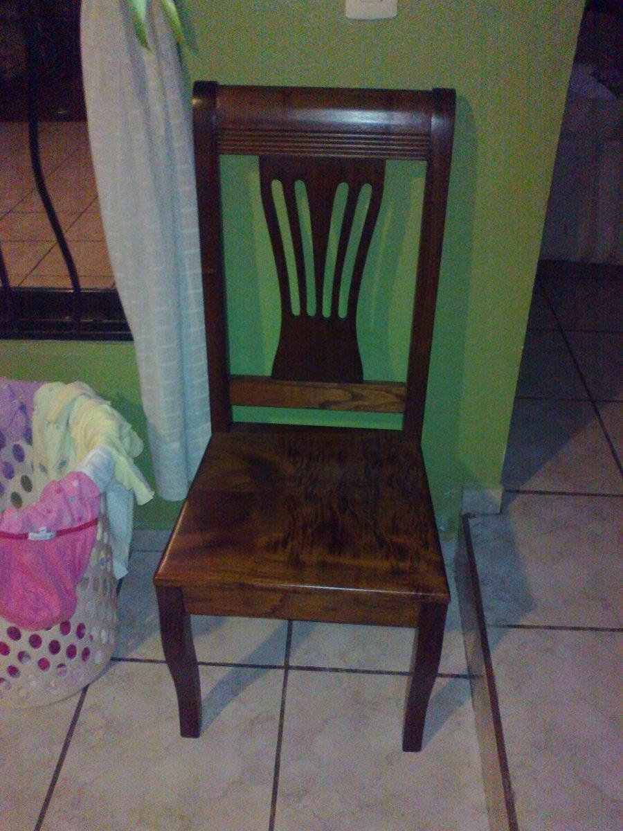 Sillas para comedor en madera de cedro labradas y talladas for Precio de comedor de 4 sillas de madera