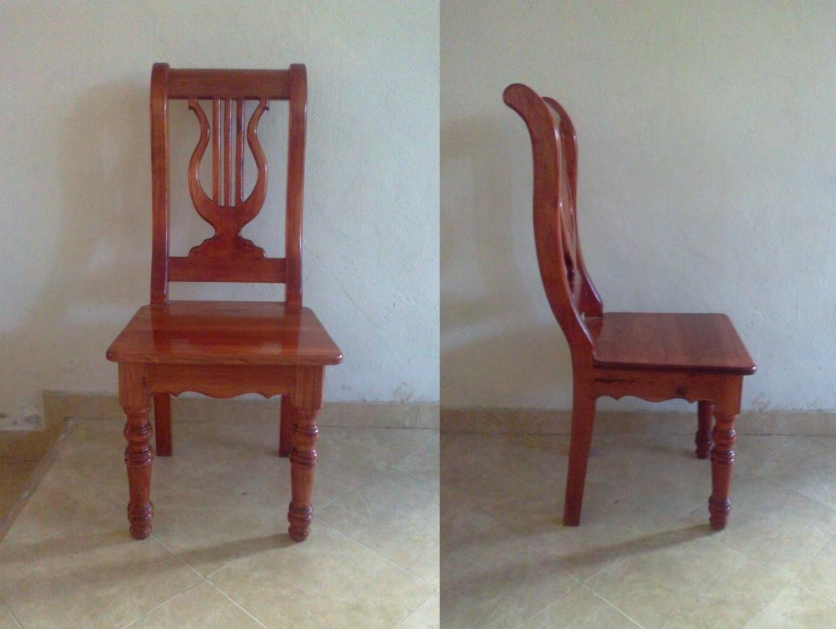 Sillas para comedor en madera de cedro labradas y talladas for Comedor 8 sillas madera
