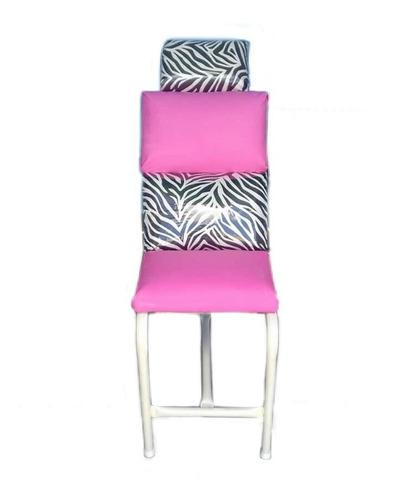 sillas para depilar cejas+derretidora de cera+banquito