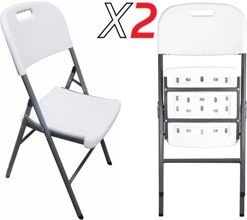 sillas plegables de plastico mercadolibre