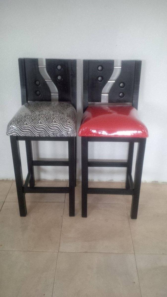 sillas para mesones tapizadas altas madera saman
