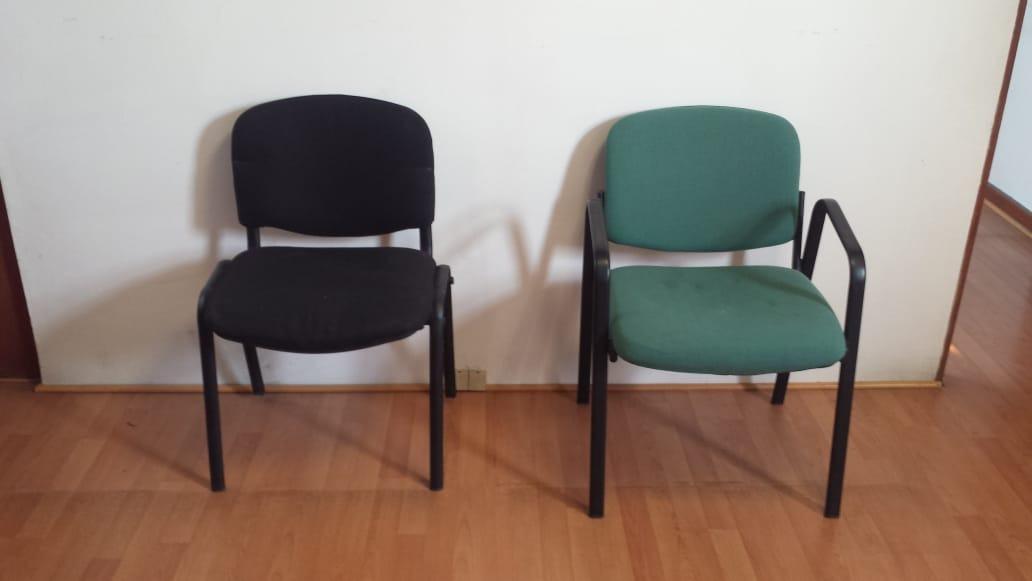 Sillas De Colores Para Oficina.Juego De 6 Sillas De Tela En Color Verde Para Oficina 1 000 00