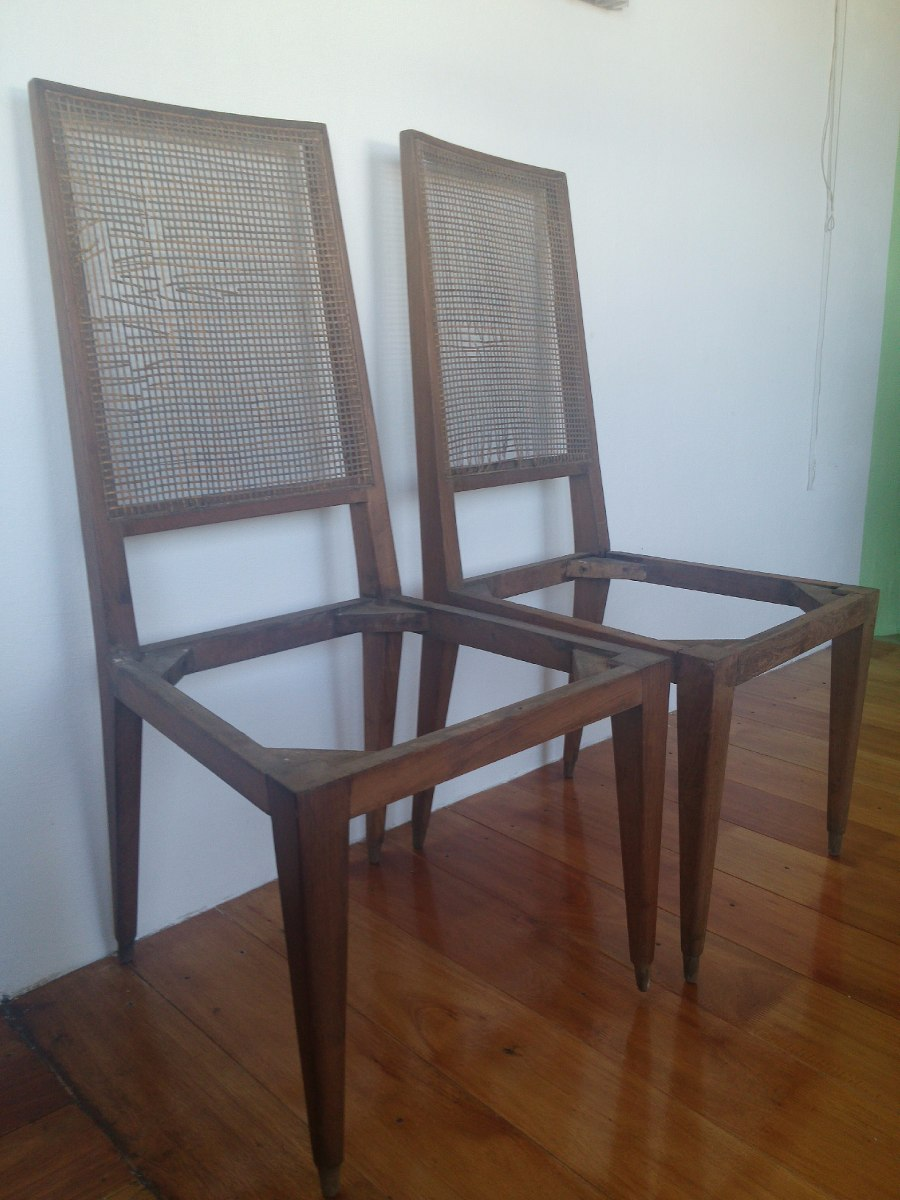 sillas para tapizar buena madera firmes son dos iguales