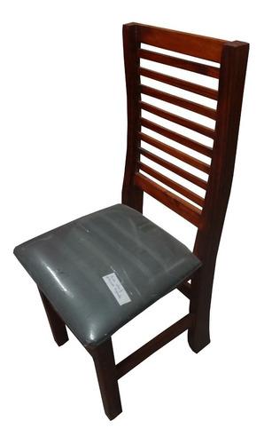 sillas pino reforzadas tapizadas/lustradas