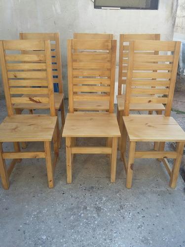 sillas pintadas pino madera roble algarrobo cedro nogal