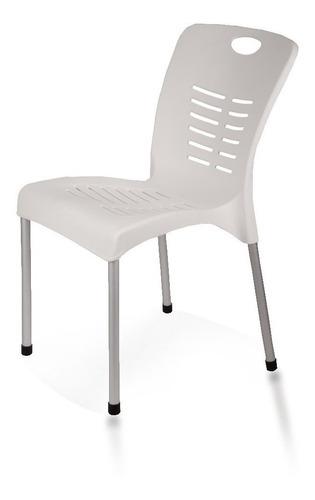 sillas plasticas exterior reforzadas jardin patas aluminio