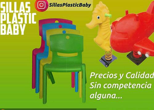 sillas plásticas  para niños niñas de preescolar o guarderia