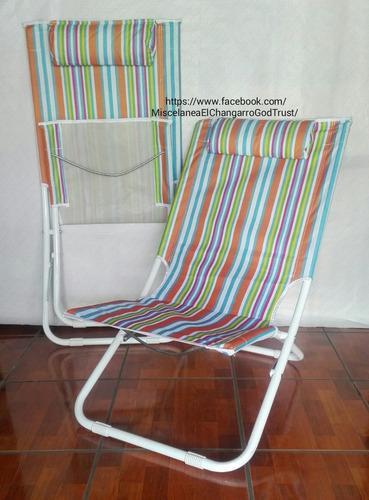 sillas playeras plegables para descanso.