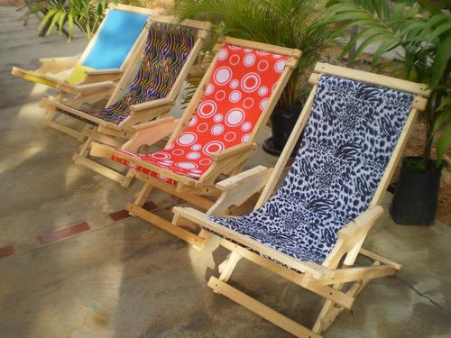 sillas playeras plegables y mecedoras