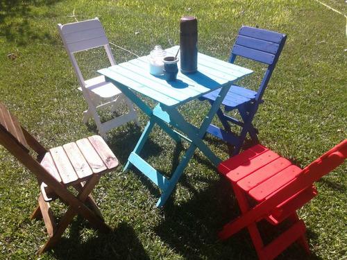 sillas plegables en pino