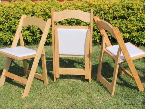 Oferta sillas plegables avant garde de madera para eventos for Oferta sillas plegables