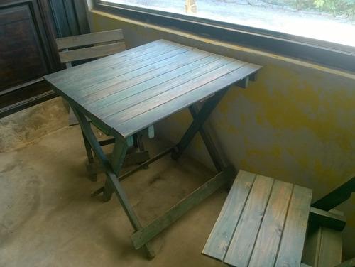 sillas plegables madera patinada bar/casa m/cantidad