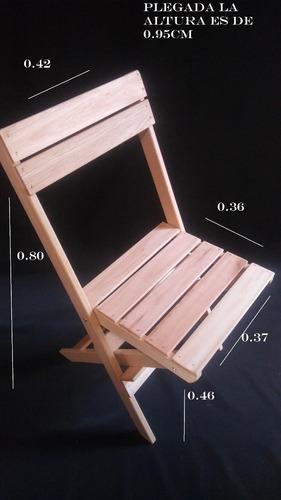 sillas plegables toda en saligna.eucaliptus.madera leer bien