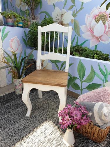 sillas provenzal tipo antigua shabby muebles