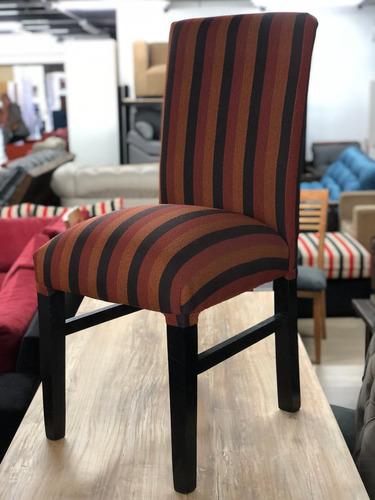 sillas reforzadas vestida chenille x2 unidades envio gratis