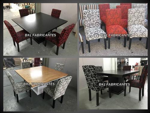 sillas reforzadas vestidas tapizadas en chenille fábrica