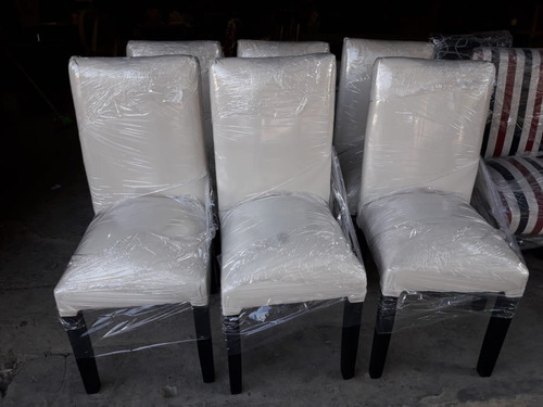 sillas revestidas chenille lisos. colores.