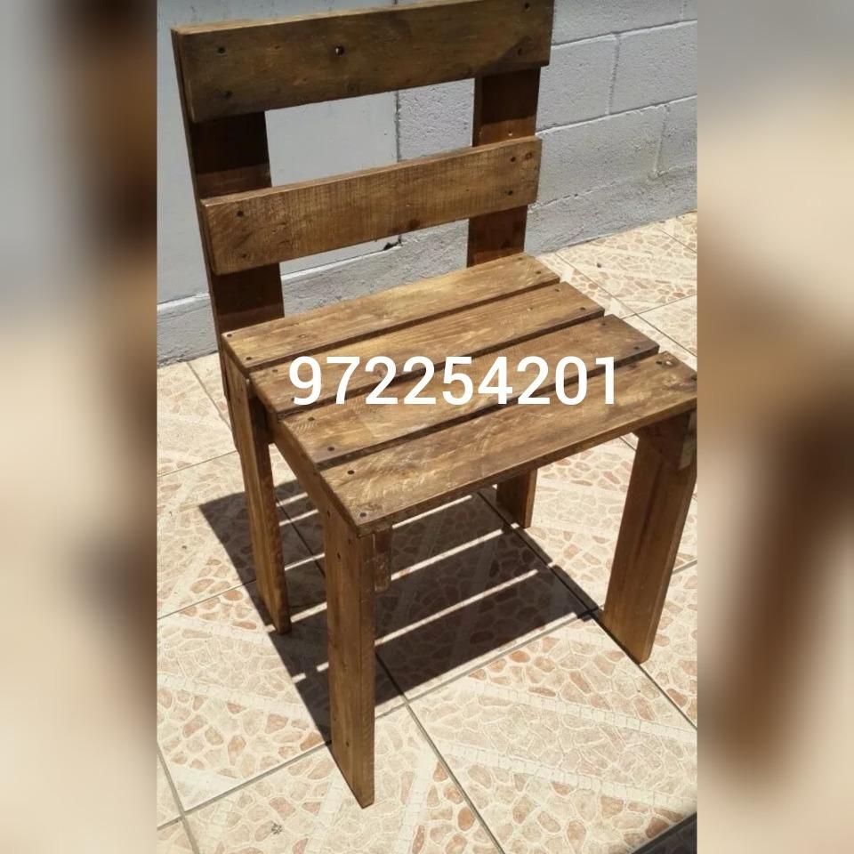 Sillas Rusticas - Eran Pallets -   19.990 en Mercado Libre 0a8bbb40bec4