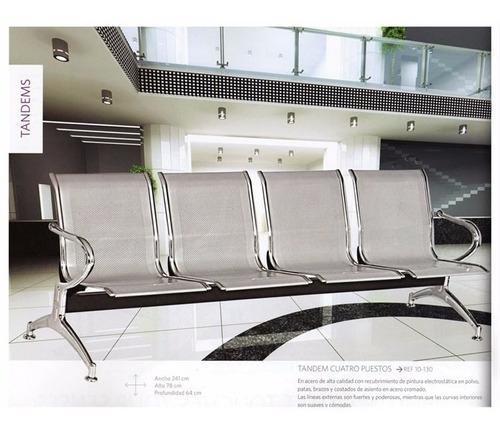 sillas sala de espera tandem recibo clinicas  acero10130