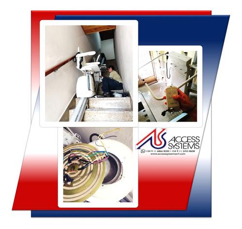 sillas salva sube escaleras servicio tecnico  accesssystems