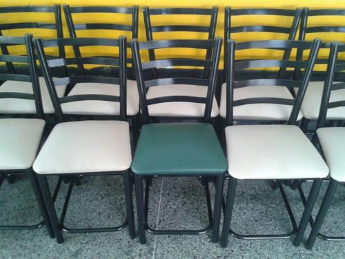sillas taburetes de hierro para barra desayunador tachira