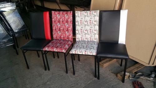 sillas tapizadas de  caño