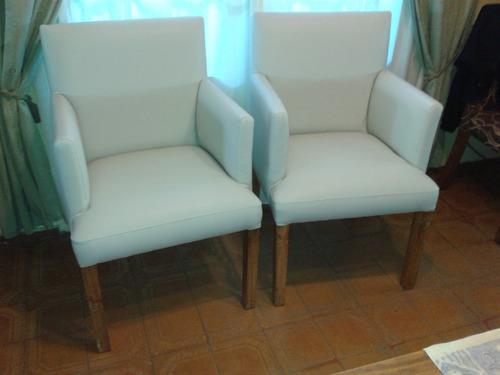sillas tapizadas, revestidas en talampaya, calidad premium