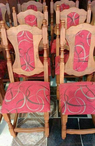 sillas tapizadas x 8 unidades
