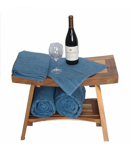 sillas teca  -serenity con estante estilo oriental 24 -d
