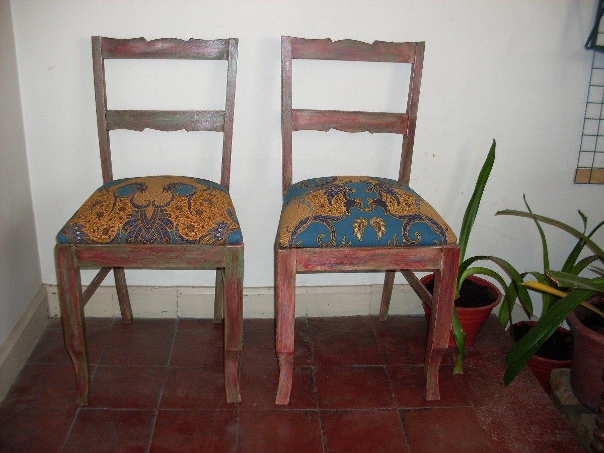 Sillas vintage madera nativa reci n restauradas 82 for Comedor vintage chile