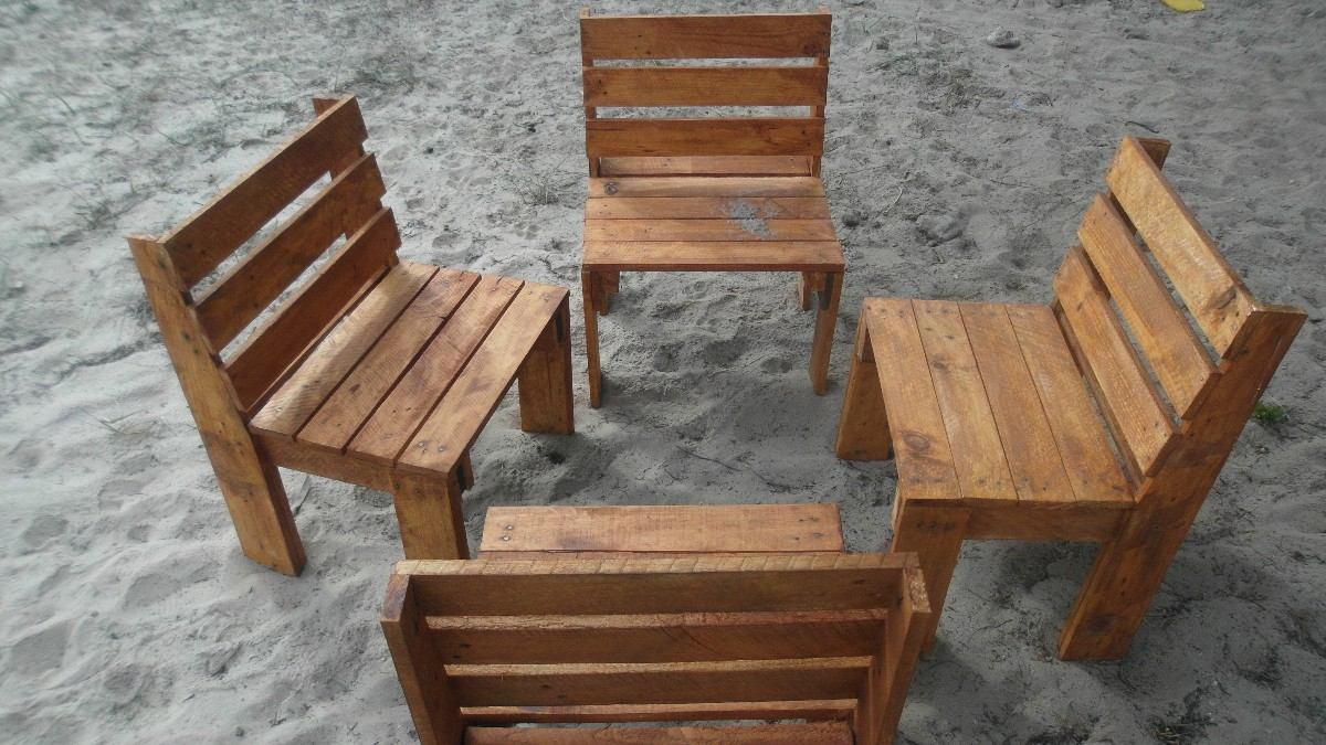 Sillas y bancos artesanales en madera 750 00 en for Muebles sillas de madera