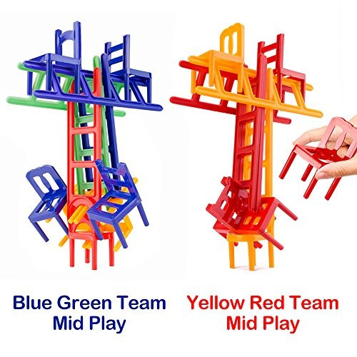 sillas y escaleras juego. 44 piezas individuales. pila de j