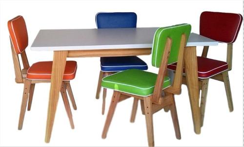 sillas y mesa retro vintage escandinava paraiso fabrica