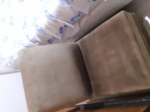 sillón 1 cuerpo cuero gamuza-- relleno duvet-buen estado
